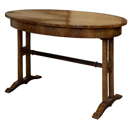 Walnut Empire Style Centre Table with Crossband Edge (1 of 6)