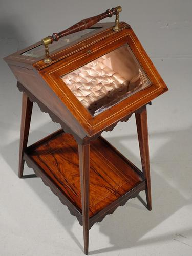 A Extremely Pretty 19th Century Rosewood and Marquetry Ladies Work Table (1 of 6)