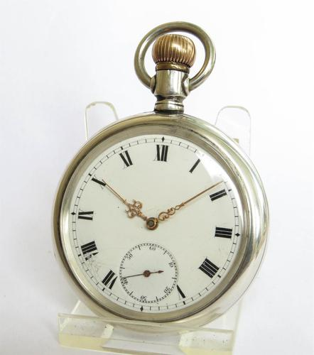 Antique Silver Omega Pocket Watch c.1910 (1 of 5)