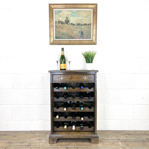 Early 20th Century Antique Oak Wine Rack (1 of 9)