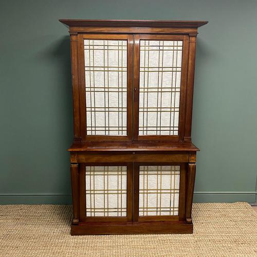 Mahogany Antique Bookcase Cupboard – Charles C Gray 1848 (1 of 9)