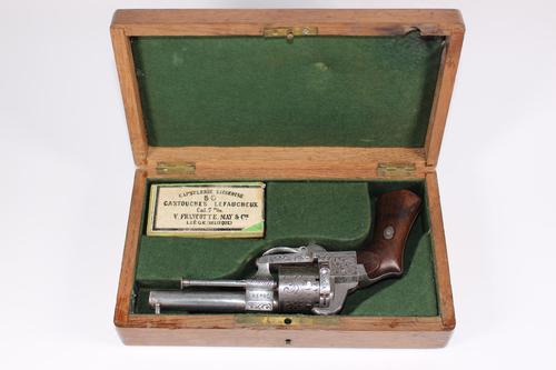 Cased 19th Century French Pinafore Revolver by Lefaucheux (1 of 8)