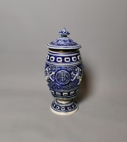 Antique Tobacco Jar, Westerwald, 19th Century (1 of 13)