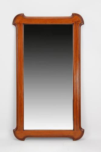 Antique Edwardian Mahogany & Inlaid Mirror (1 of 13)