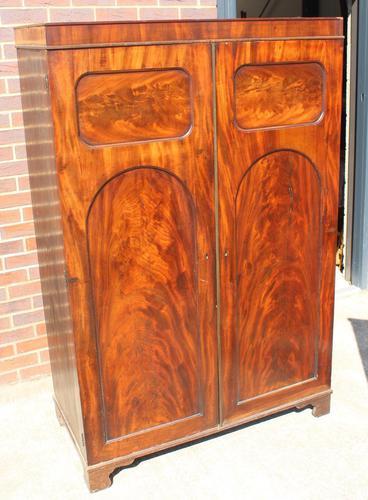 1940s Mahogany 2 Door Wardrobe with Brass Fitting (1 of 4)