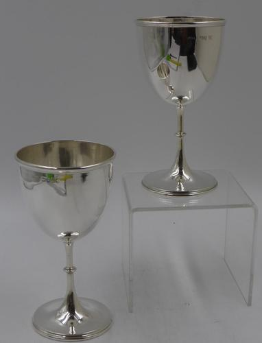 Good Pair of Antique Victorian Silver Goblets London 1876 Henry William Curry (1 of 6)