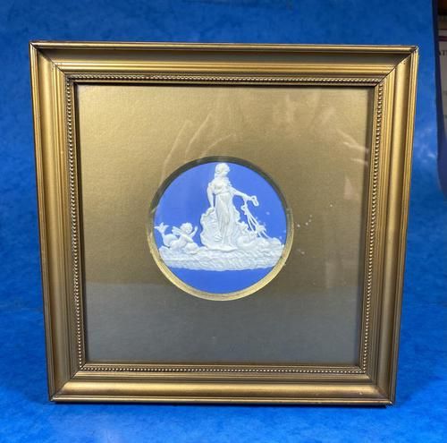 Victorian  Framed Wedgwood Panel of Goddess with her Cherub Child (1 of 4)
