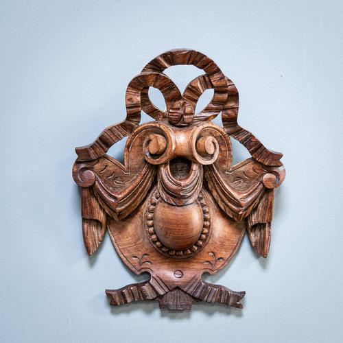 Carved Walnut Cartouche (1 of 6)