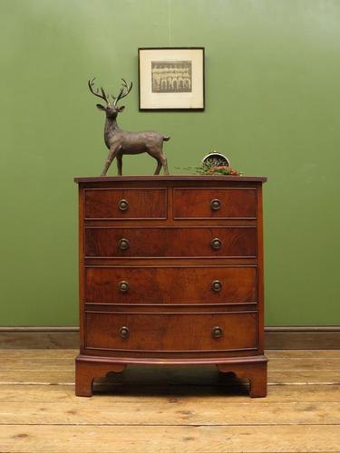 Small Antique Reproduction Chest of Drawers, Quality Piece (1 of 13)