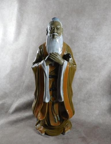 Large Shiwan (Shekwan) Ware Figure of Confucious Kong zi (1 of 7)