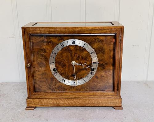 Walnut Chiming Elliott Mantel Clock (1 of 10)
