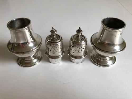 Antique Sterling Silver Salt & Pepper Pot London 1911 (1 of 2)