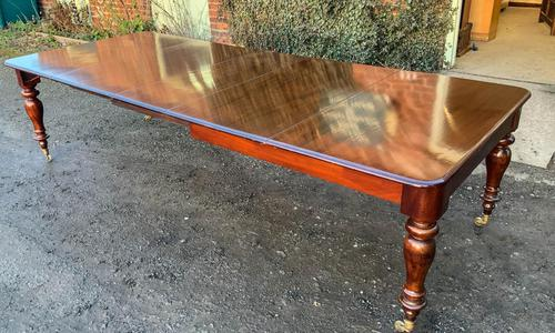 Victorian Mahogany Extending Dining Table with 3 Leaves seats 12 (1 of 8)
