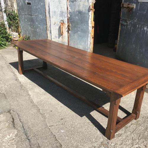 Large 3m Solid Oak Refectory Table (1 of 7)