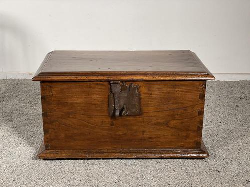 Small Spanish Walnut Chest From The 17th Century, (1 of 8)