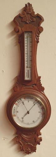 19th Century Oak Barometer (1 of 3)