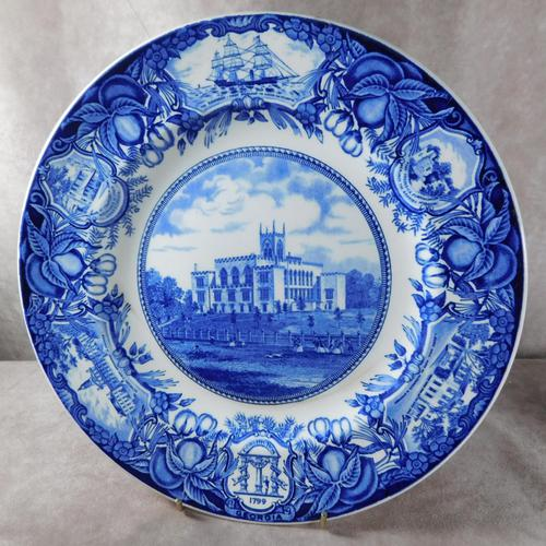 """Wedgewood Blue & White """"Old Capitol Building """"Souvenir  Plate (1 of 4)"""