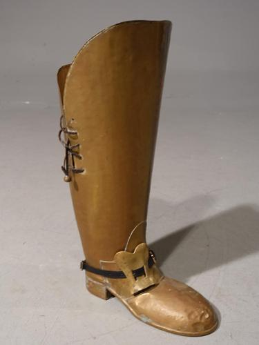An Unusual Early 20th Century Stick Stand in the Form of a High Boot (1 of 4)