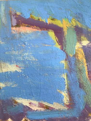 Original Abstract Oil on Board 'Santorini' by Frank Beanland - Initialled. c.1985 (1 of 3)