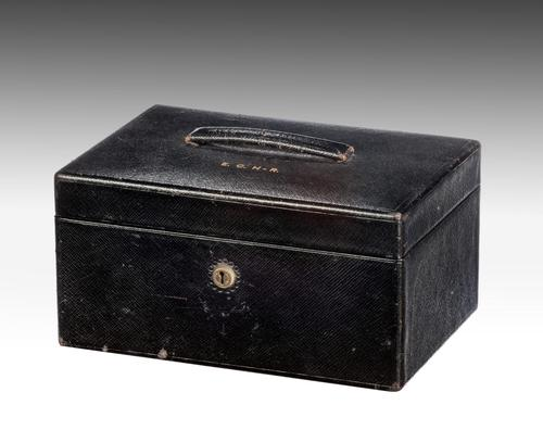 Late 19th Century Leather Jewellery Box (1 of 3)