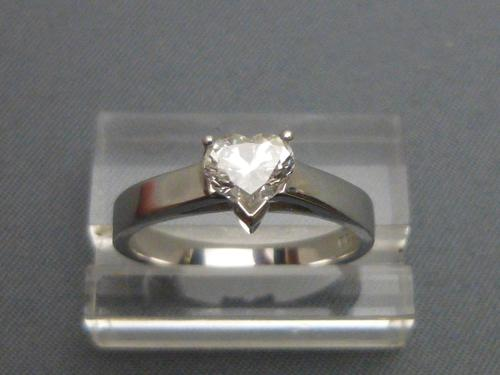 18ct Heart Shaped Diamond Solitaire Ring (1 of 6)