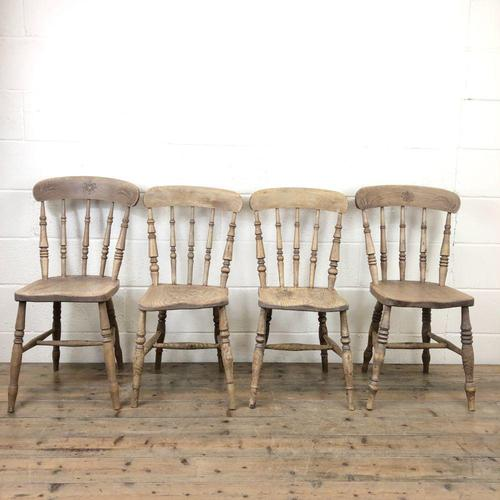 Set of Four Antique Kitchen Chairs (1 of 11)