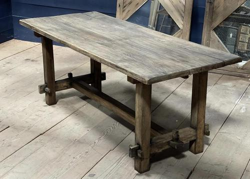 Rustic French Washed Oak Farmhouse Dining (1 of 21)