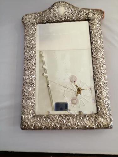 Fine Quality Silver Easel Mirror (1 of 5)