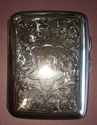 Sterling Silver Cigarette Case - 1919 (1 of 4)