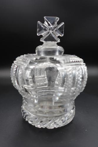 Early 20th Century Complex Scent Bottle in the Shape of a Crown (1 of 5)