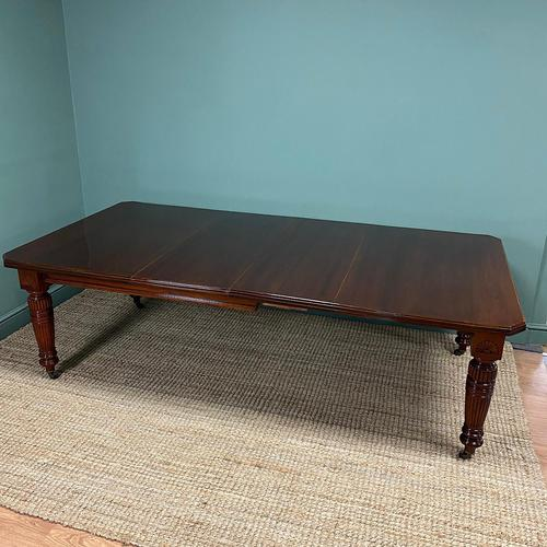 Large Victorian Walnut Antique Extending Dining Table (1 of 7)