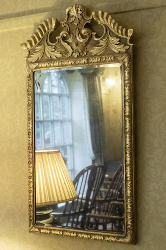 Beautiful 18th Century Carved Giltwood English Mirror (1 of 2)