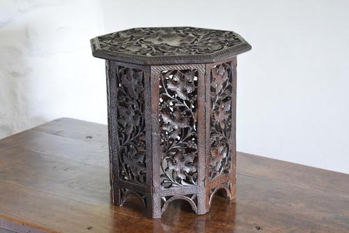 Anglo Indian Carved Table with Octagonal Top (1 of 10)