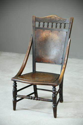Early 20th Century Beech Occasional Chair (1 of 8)
