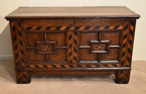 17th Century Oak Geometric Oak Coffer (1 of 8)