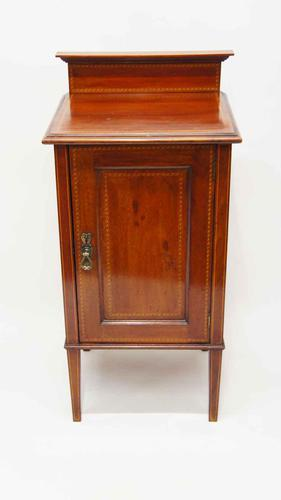 Edwardian Inlaid Mahogany Bedside Cabinet (1 of 12)
