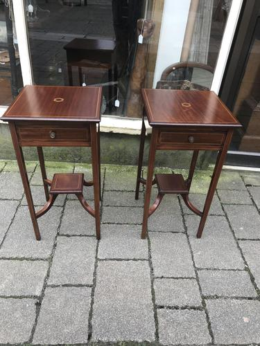Pair of Inlaid Edwardian Bed Tables (1 of 24)