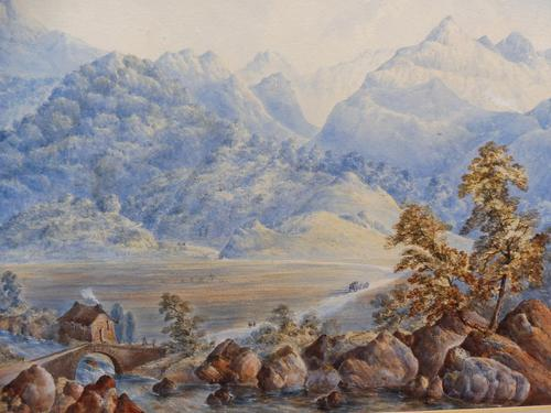 Watercolour The Glen Monogrammed A M 1863 (1 of 12)