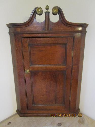 Georgian Oak Corner Cupboard (1 of 8)