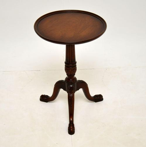 Antique Carved Mahogany Wine Table (1 of 6)