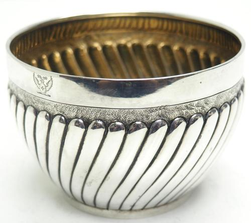 Antique Solid Silver Plant Pot or Bowl with Gilt Lining c.1882 (1 of 7)
