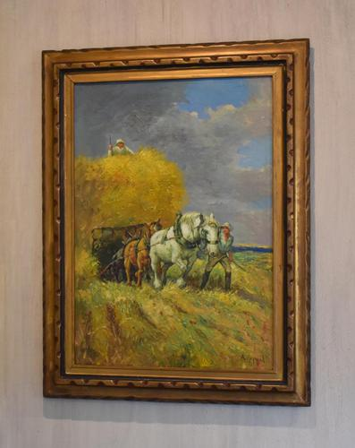 Oil Painting of Working Horses & Farmers (1 of 8)