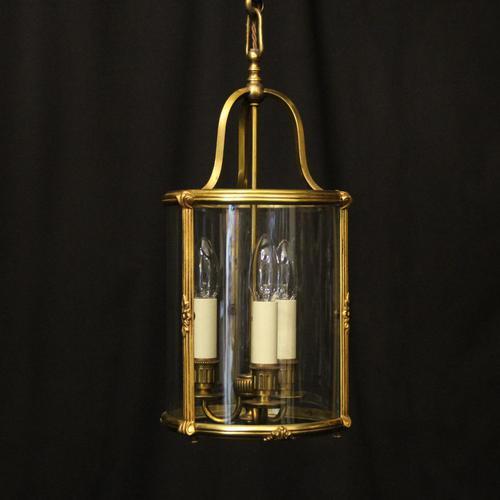 French Gilded Triple Light Antique Lantern (1 of 10)
