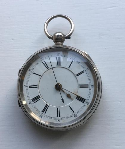 Heavy Silver Pocket Watch or Chronograph (1 of 3)
