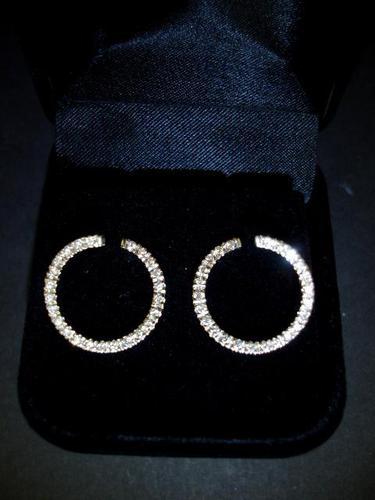 Diamond Hoop Earrings (1 of 1)