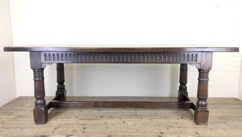 Large Antique Oak Refectory Table (1 of 9)