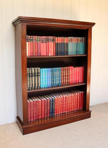 Late 19th Century Mahogany Open Bookcase c.1890 (1 of 11)