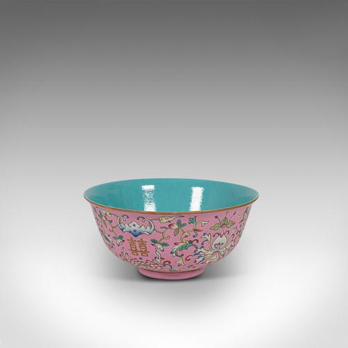 Antique Decorative Marriage Bowl, Chinese, Ceramic, Ceremonial, Dish c.1880 (1 of 12)