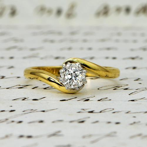 The Vintage 1968 Illusion Solitaire Diamond Ring (1 of 6)