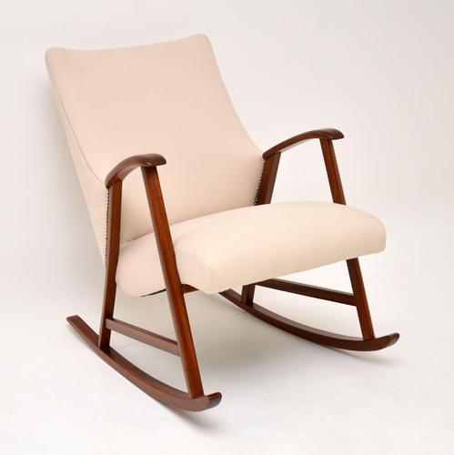 1960's Dutch Vintage Mahogany Rocking Chair (1 of 9)